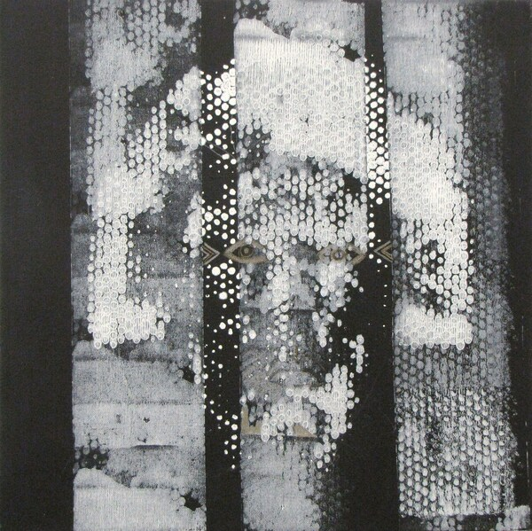 039Wavelengths039 2020 16x16 Acrylic Mixed Media on Canvas