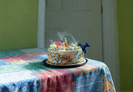 cake on a table
