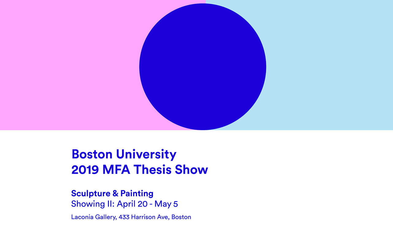 BU 2019 Thesis Show poster