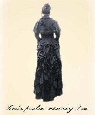 Card of woman facing away