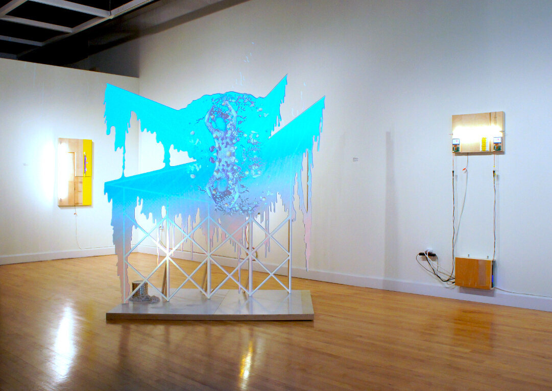 3d installation in gallery
