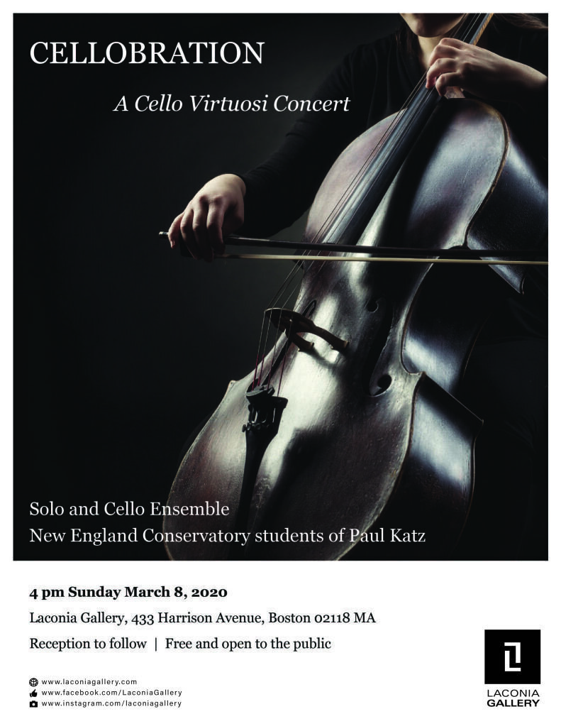 Poster featuring a cellist