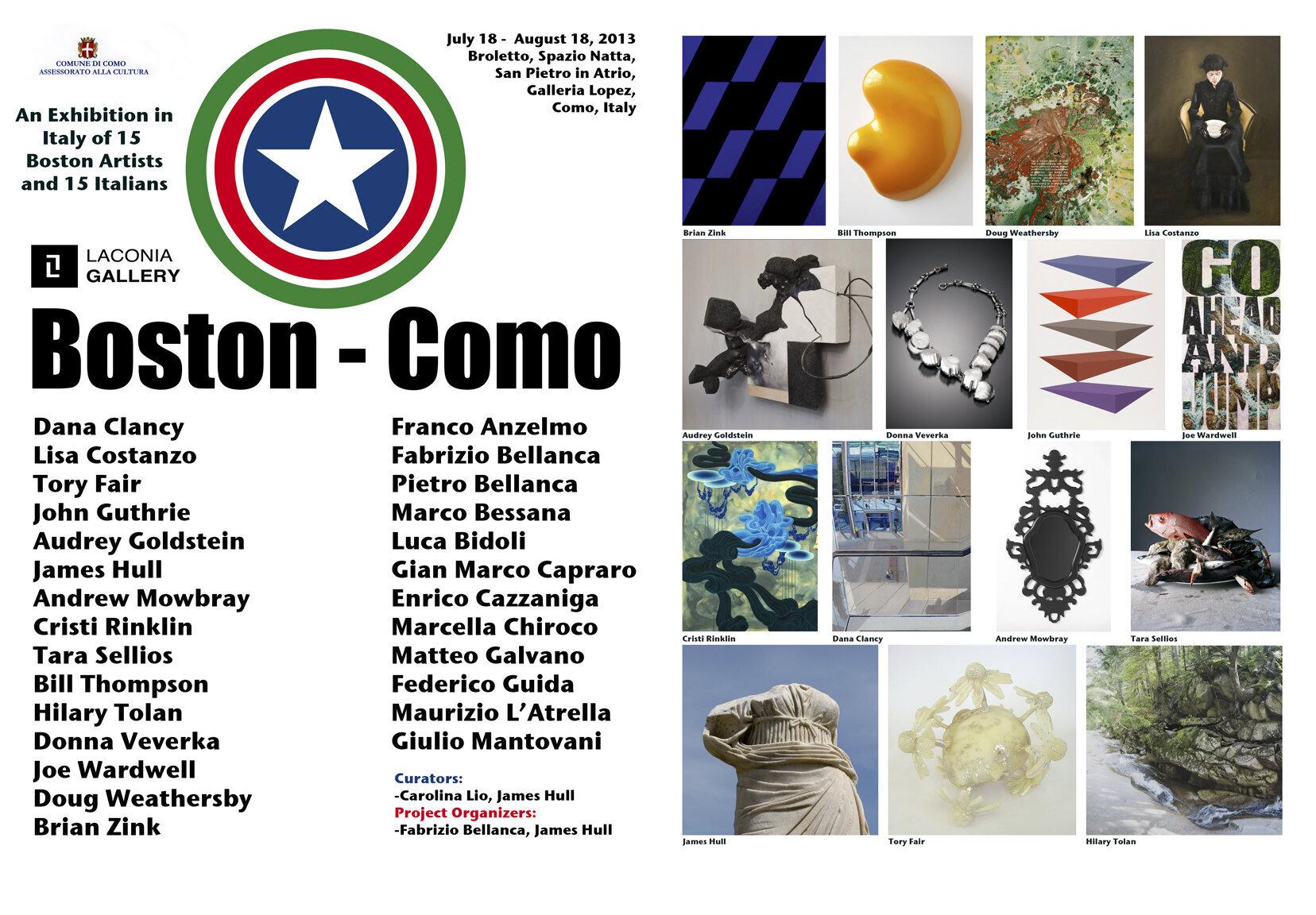 Poster for Boston  Como exhibit