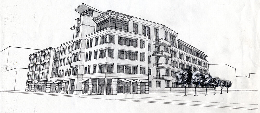 architectural drawing of Laconia Lofts