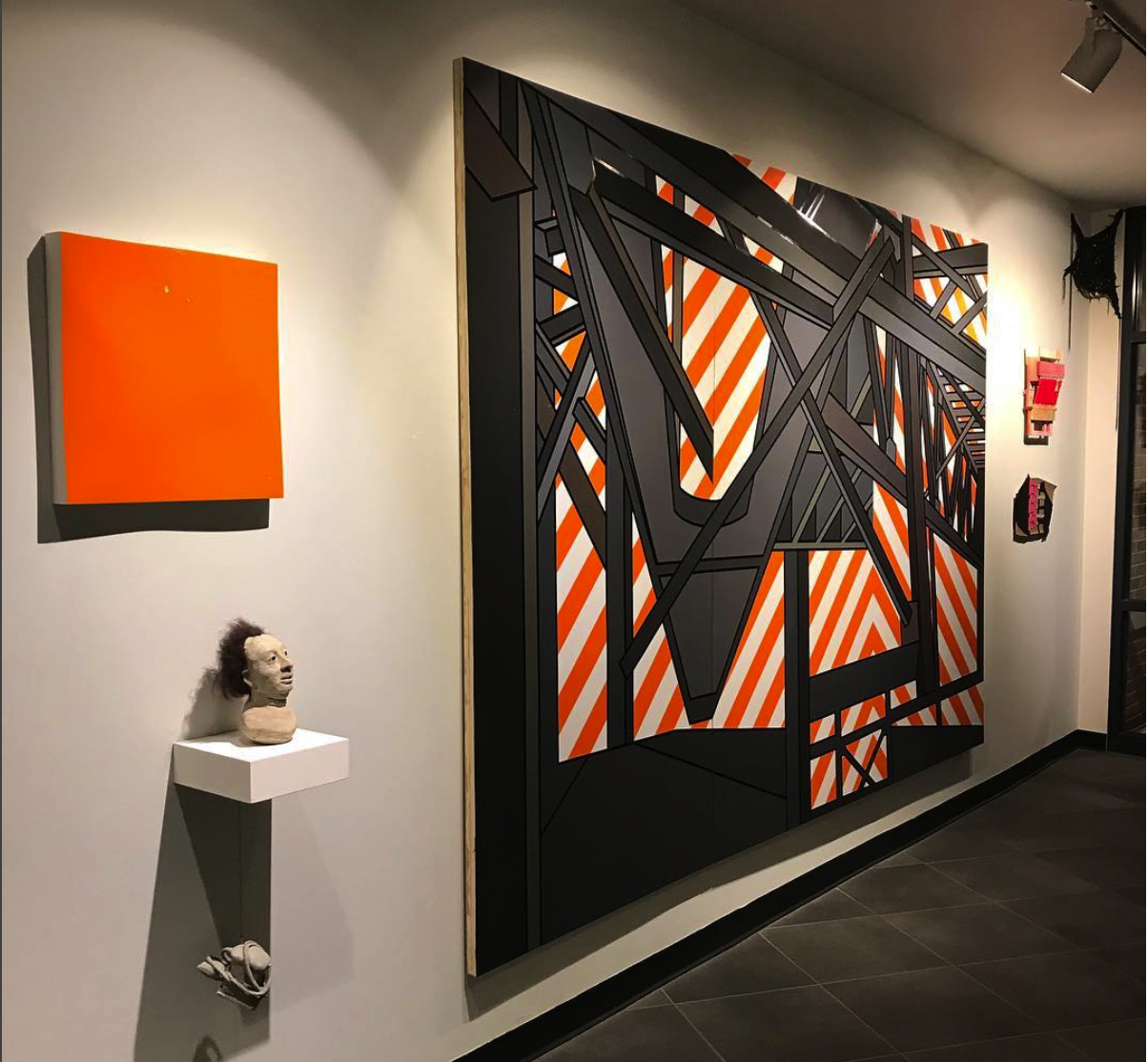 Painting exhibit in gallery