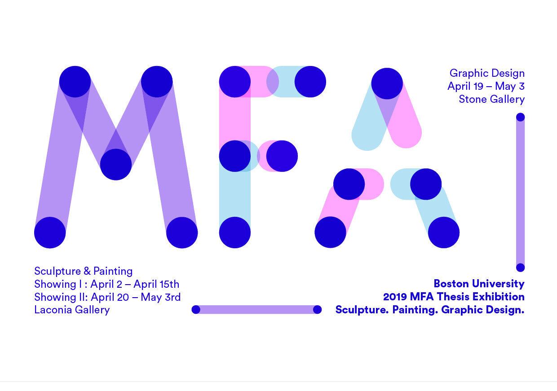 BU MFA Thesis Exhibition Poster